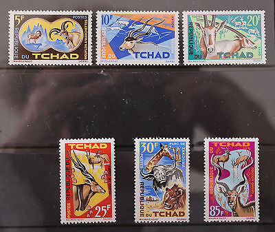 Chad 1964 Fauna Set MNH SG129-134 Animals Lion