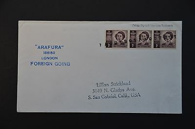 NORTH BORNEO Paquebot cover to USA - Australian stamps