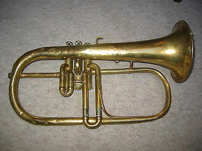"""Extremely old Bb flugelhorn """"F. Besson Paris"""" Made 1889, needs repair"""