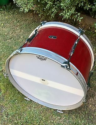 Vintage Bass Drum Olympic 1960S Red Sparkle 22 Inch
