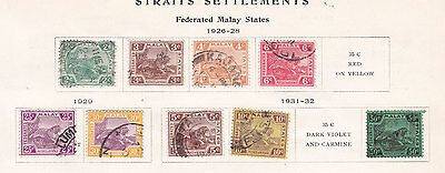 ST SETTLEM MALAY STATES  ^^^^^1926-28  used  TIGERS  collections $$@ f5923xxbstt