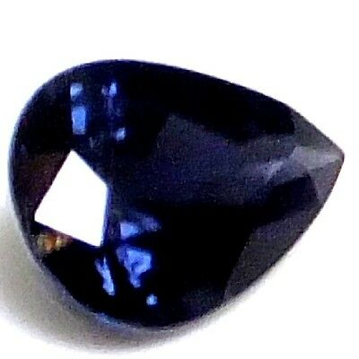 NATURAL RARE DEEP BLUE SPINEL LOOSE GEMSTONE (7.4 x 5.4 mm) PEAR SHAPE