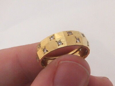 9ct/ 9k gold two row white spinel full eternity ring, 375