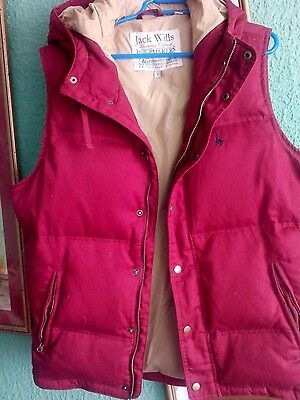 large body warmer.as new Red with beige lining.thick padding ..ladies or mens.