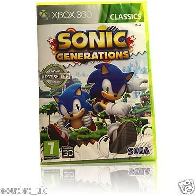 Sonic Generations Classics Xbox 360 X360 Game BRAND NEW & SEALED