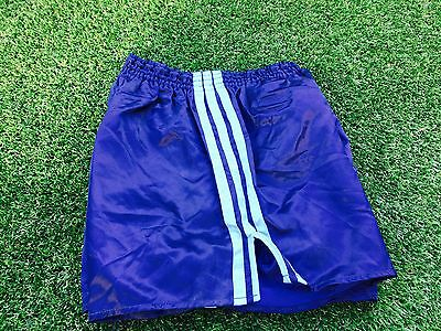 Amazing Adidas Vintage Condition Shiny Satin Sprinter Shorts Navy Small D5 32