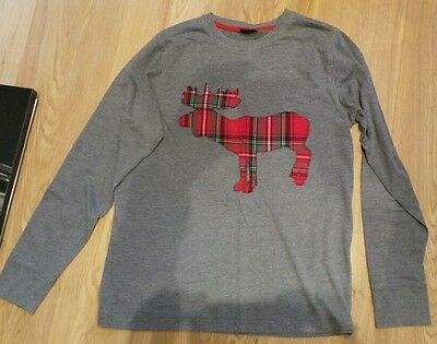 Boys Christmas (Reindeer) Long Sleeved T-Shirt Size 13 Years Next