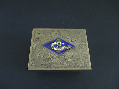 Vintage Stamp Box with Enamel
