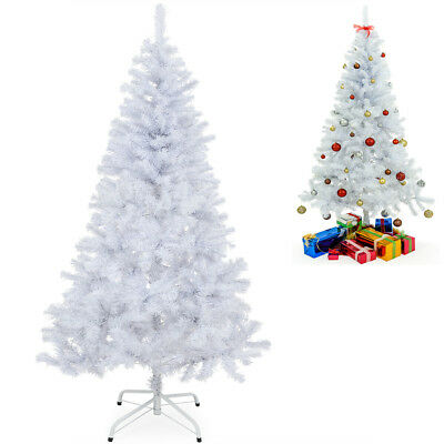 Sapin de Noël artificiel 180 cm 533 pointes support Blanc veillée décoration