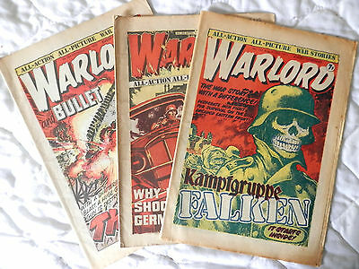 WARLORD 3 issues (1976/7) Nos 30,152 and 223