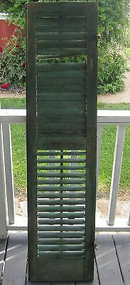 Vintage Wooden Louvered Shutters Shabby