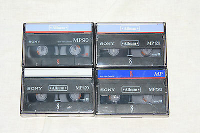 4 X Used Sony Video8 Tapes 90 Minutes duration