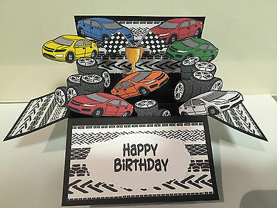 Handmade Birthday card in a box for a men