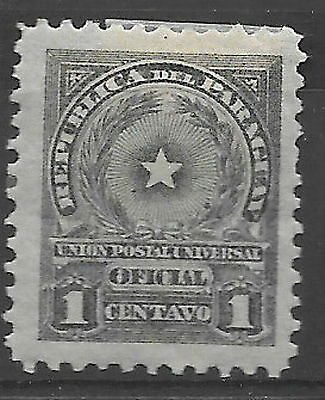 1913 Stamp Paraguay - Official - 1c grey MH