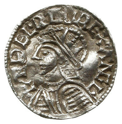 AETHELRED II (1003-1009 AD) Saxon Penny. London #DX 6691