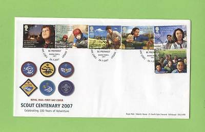 G.B. 2007 Scout Centenary set on u/a Royal Mail First Day Cover, Brownsea
