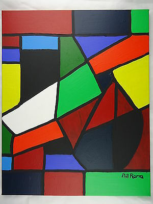 Phil Pierre - SOLIDS 015 - new original abstract acrylic painting cotton canvas