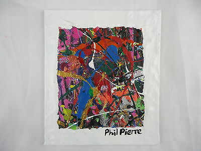 Phil Pierre - BUBBLE GUM 302 - new original abstract acrylic painting on board