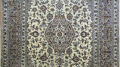Perfect Persian - 1930s Antique Kashan Rug - Floral Oriental Carpet 6.6 x 9.8 ft