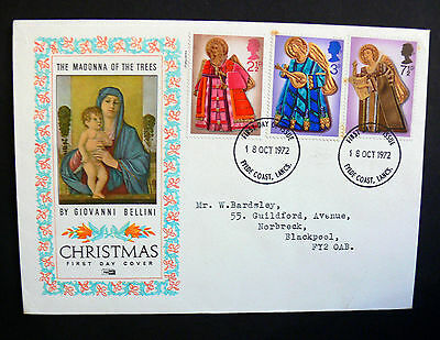Stamps of Great Britain Christmas    First Day Cover 1972 Giovani Bellini