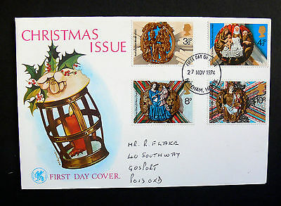 Stamps of Great Britain Christmas    First Day Cover 1974