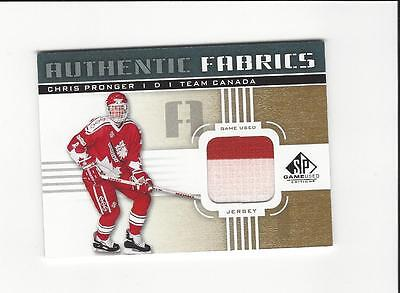 2011-12 SP Game Used Authentic Fabrics Gold #AFPG4 Chris Pronger O C