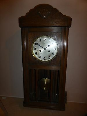 Wooden Cased 8 day Wall clock circa 1900's