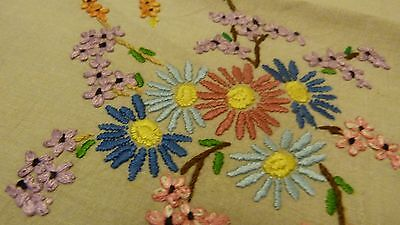 Vintagehand Embroidered Irish Linen Tablecloth
