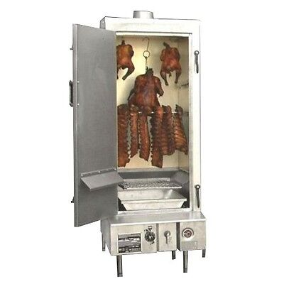 """Natural Gas Town SM-24-L-SS-P Indoor 24"""" Stainless Steel Smokehouse with Le"""