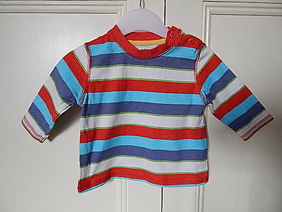 George Baby Boys Bright Striped 100% Cotton Top Size 0-3 Months
