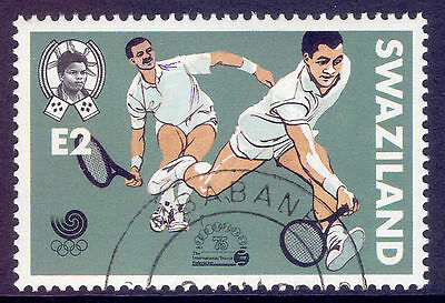 SWAZILAND 1988 stamp 2 E Tennis from Olympic Games Seoul fine used (CTO)