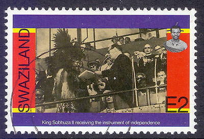 SWAZILAND 1998 stamp 2 E from King Mswati / Independence Anniv. fine used (CTO)