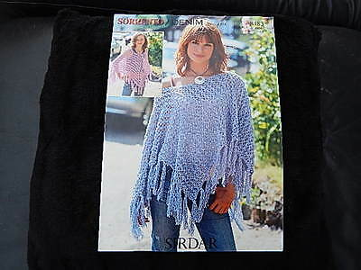 """Sirdar Double Knitting Pattern Ladies & Childs Lacey Poncho 30-36"""""""