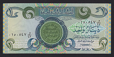 Iraq One Dinar Banknote 1979 P-69a.1 UNC
