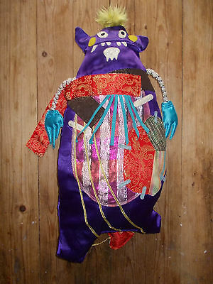 WEIRD Mexican? Day Of The Dead? STUFFED PATCHWORK MONSTER/CREATURE HALLOWEEN !!