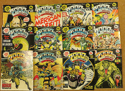 The Best of 2000AD Monthly 12 Vintage Issues #2-9, 11, 15-17 1985-1987 IPC