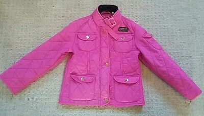 Girls barbour coat aged 5-6 years - pink