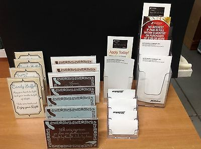 Lot of 15 Assorted Acrylic Countertop Brochure/Photo/Literature/Bus Card Holders