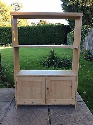 Rustic Old Pine Bookcase Cupboard