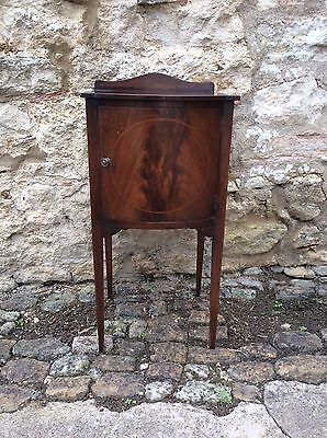 Edwardian Bow Fronted Bedside Cupboard