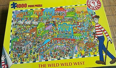 Where's Wally 1000 Piece Jigsaw Puzzle, The Wild Wild West, Complete