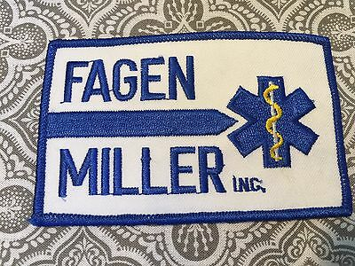 "Fagen Miller Incorporated Embroidered Large Medical Patch 4 1/4 x 2 3/4"" #59"