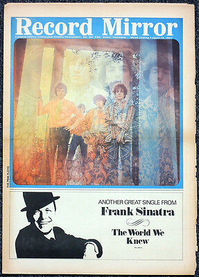 Record Mirror 12 Aug 1967 . Pink Floyd Syd Barrett Front Cover . Not Nme