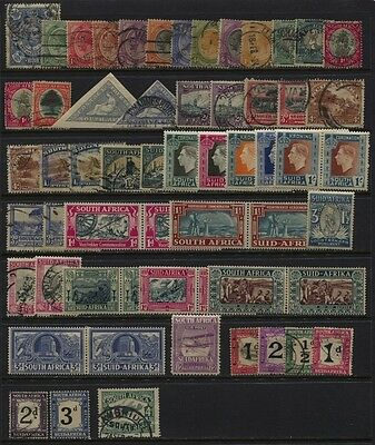 South Africa 1910 - 1940 MH / Used Small Collection, Back of Book CV $130+