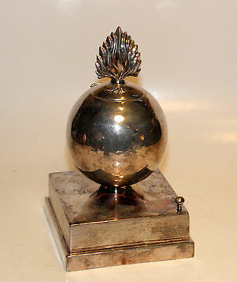 rare 1931 art deco sterling silver fusiliers bomb silent flame electric lighter