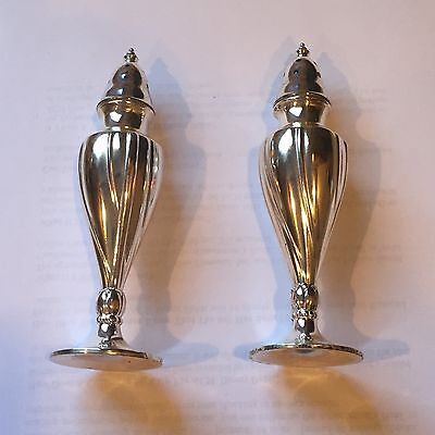 Vintage LA FRANCE REG 616 SPC Salt Pepper Shaker SET Silver Plate New in Box