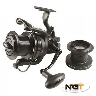 New NGT dynamic 7000 big pit 10BB carp runner reel+spare spool