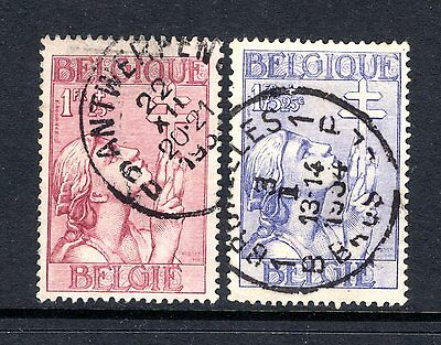 BELGIUM 1934 TUBERCULOSIS SOCIETY sg650-1 GOOD TO FINE USED NOT CAT BY ME