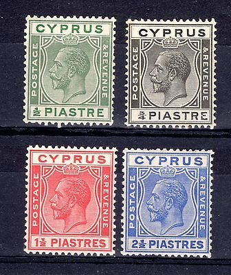 CYPRUS KGV 1925 sg118,119,120,122  FINE LIGHTLY  MOUNTED MINT  CAT £28+