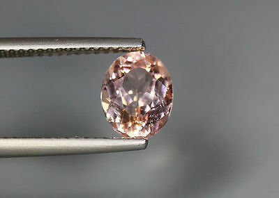 1.41 Cts_Top Grade Stunning Gemstone_100 % Natural Peach Pink Morganite_Brazil